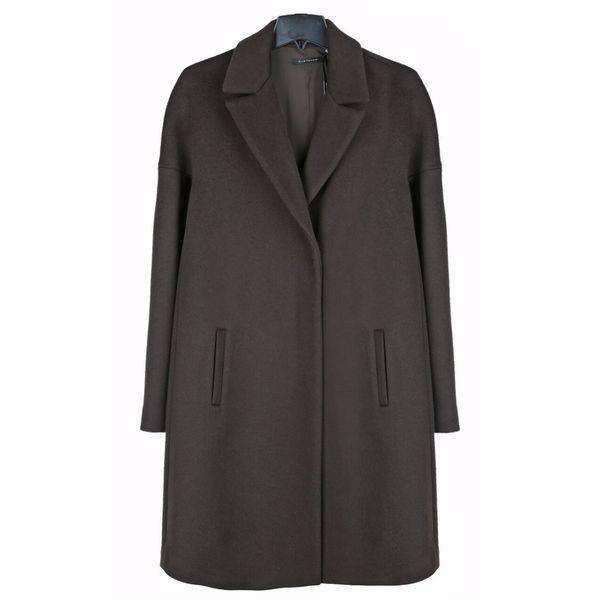Elie Tahari Women's Louisa Brown Wool Plus Size Coat