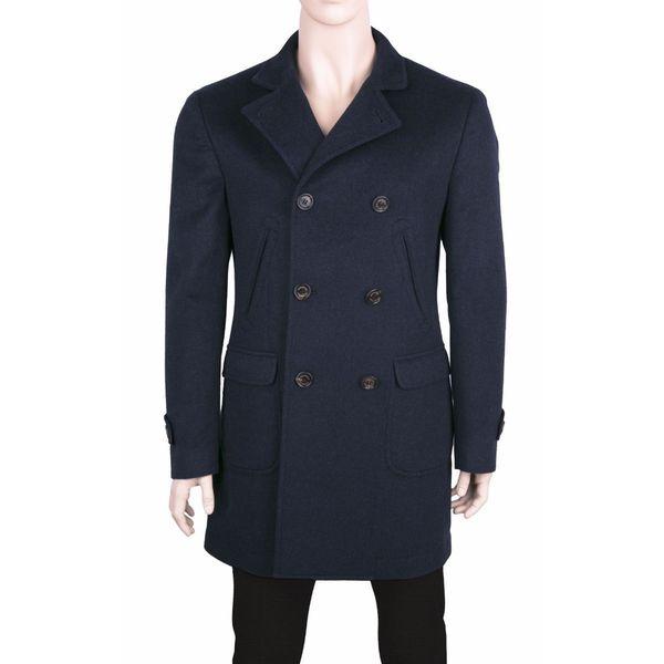 Brunello Cucinelli Blue Cashmere Coat
