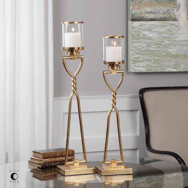 Uttermost Susana Gold Candleholders (Set of 2) 22473869