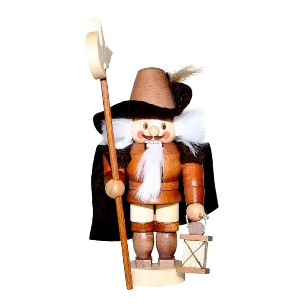 Christian Ulbricht Wooden Night Watchman Mini Nutcracker