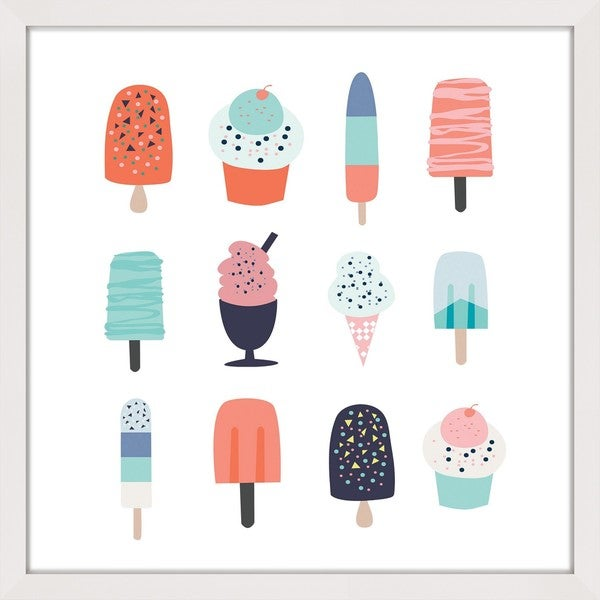 Marmont Hill - 'Ice Cream Styles 2' by Shayna Pitch Framed Painting Print 22475995