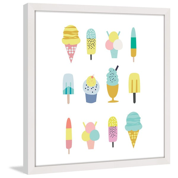 Marmont Hill - 'Ice Cream Styles' by Shayna Pitch Framed Painting Print 22476030