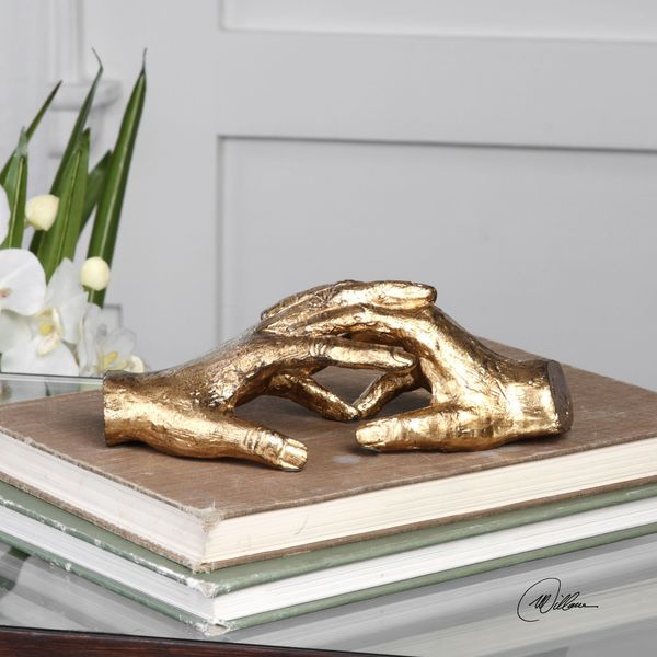 Uttermost Hold My Hand Gold Sculpture