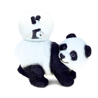 Puzzled Resin and Stone 45-millimeter Panda Snow Globe