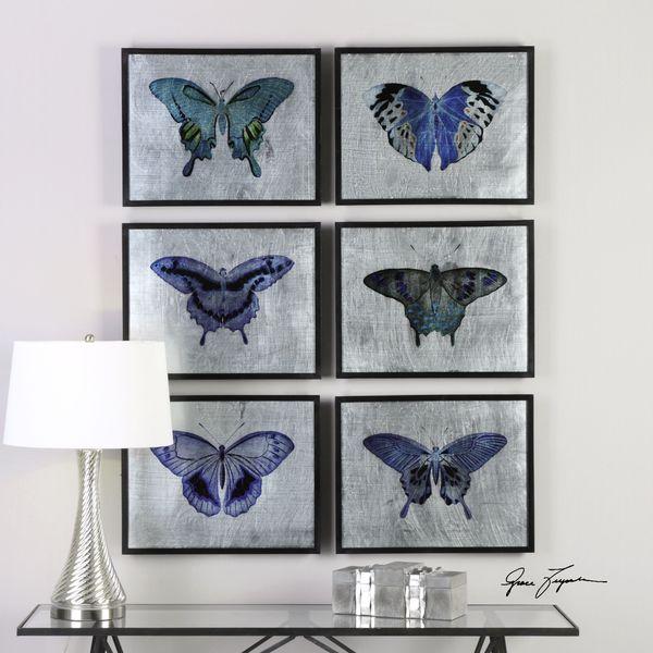 Uttermost Vibrant Butterflies Prints (Set of 6) 22477656