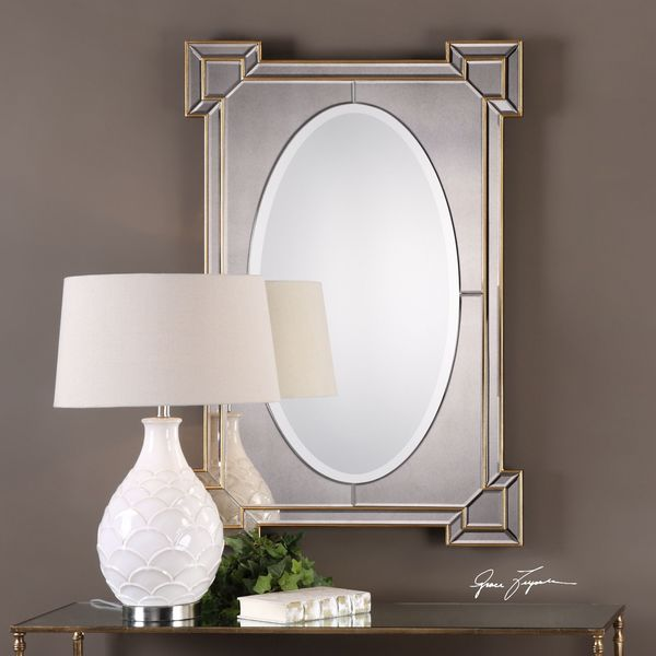 Uttermost Matilda Antiqued Gold Mirror
