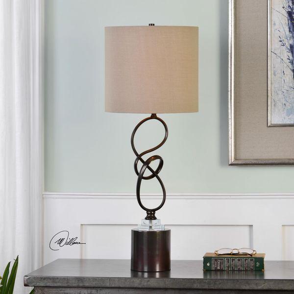 Uttermost Aprilia Twisted Dark Bronze Lamp