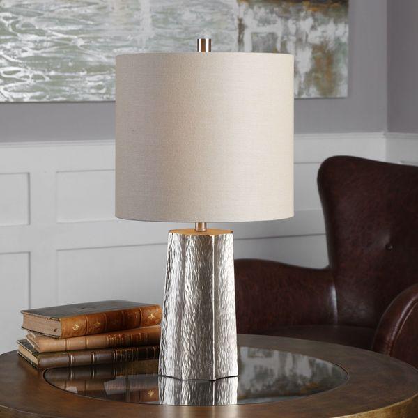 Uttermost Candor Metallic Silver Lamp