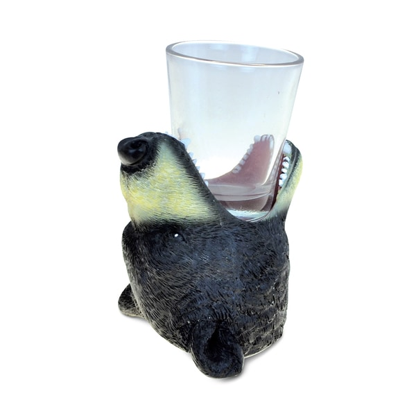 Puzzled Animal-theme Black Bear Cool Animal Head Shot Glass 22501777