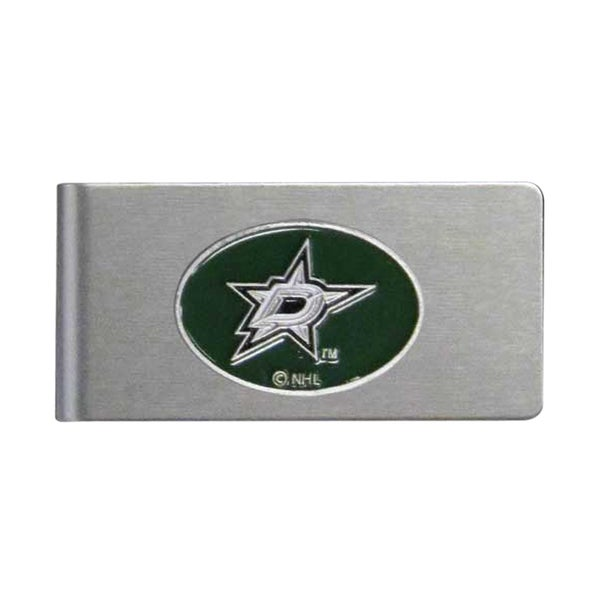 NHL Dallas Stars Brushed Sports Team Logo Metal Money Clip