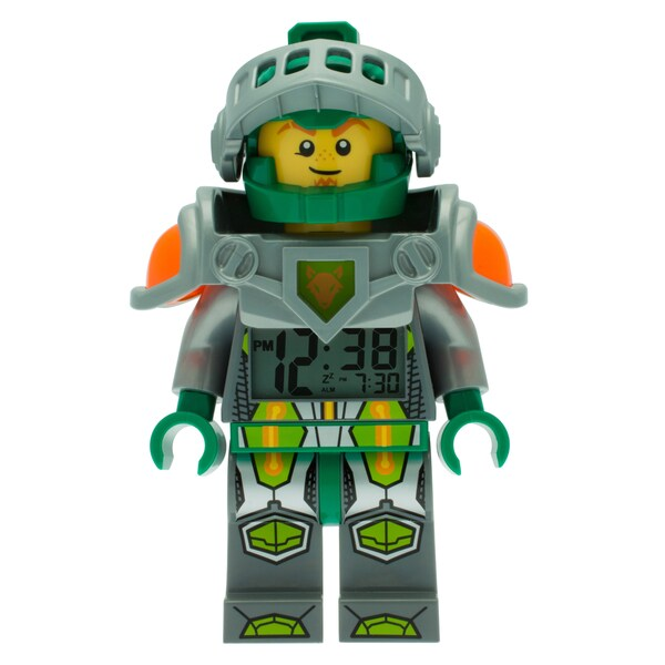 LEGO Nexo Knights Aaron Kid's Moveable Minifigure Alarm Clock