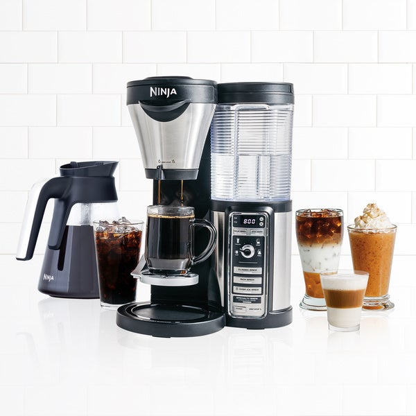 Ninja CF080 Coffee Bar Auto-iQ Brewer with Glass Carafe (Refurbished) (As Is Item) 29119579