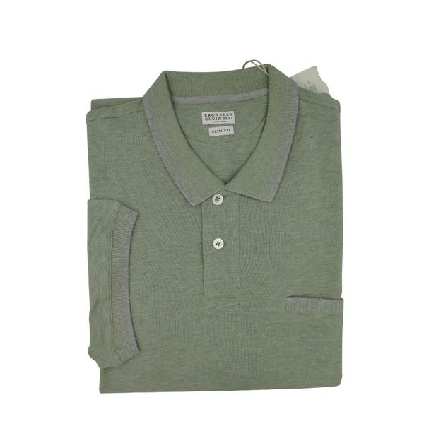 Brunello Cucinelli Green Short Sleeve Polo 3XL