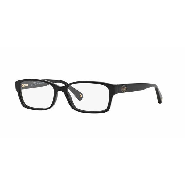 Coach Womens HC6040 BROOKLYN 5002 Black Plastic Rectangle Eyeglasses