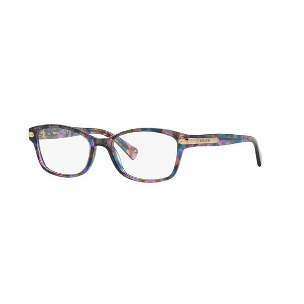 Coach Womens HC6065 5288 Violet Plastic Rectangle Eyeglasses
