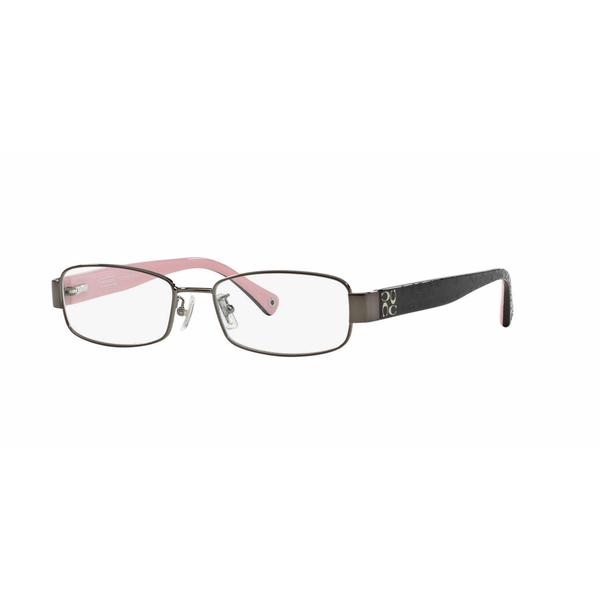 Coach Womens HC5001 TARYN 9021 Gunmetal Metal Rectangle Eyeglasses