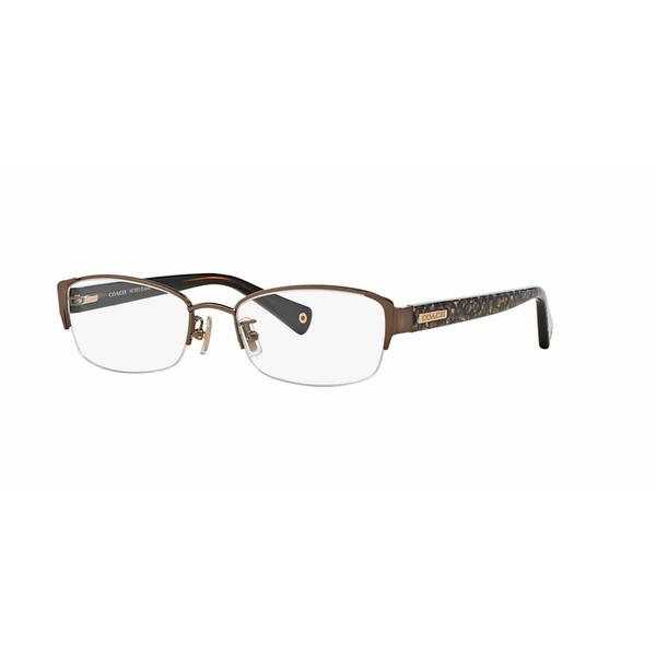 Coach Womens HC5053 EULALIA 9182 Light Brown Metal Rectangle Eyeglasses