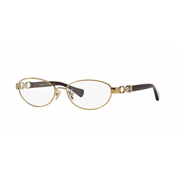 Coach Womens HC5062 STACY 9099 Gold Metal Oval Eyeglasses