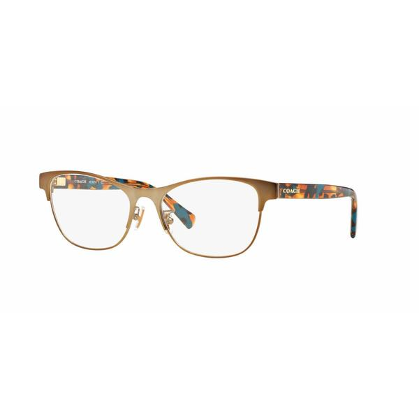 Coach Womens HC5074 9242 Bronze/Copper Metal Square Eyeglasses