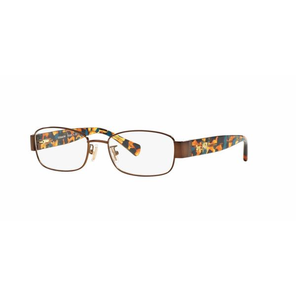 Coach Womens HC5075 9244 Brown Metal Rectangle Eyeglasses