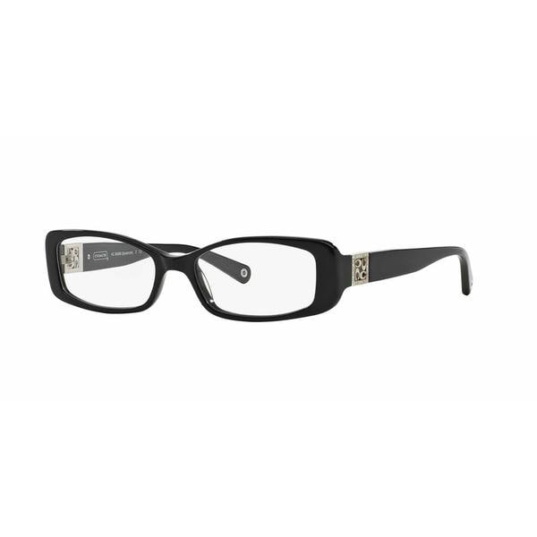 Coach Womens HC6006B SAVANNAH 5002 Black Plastic Rectangle Eyeglasses