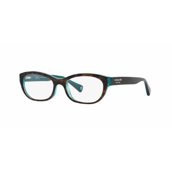 Coach Womens HC6041 KRISTIN 5116 Havana Plastic Rectangle Eyeglasses