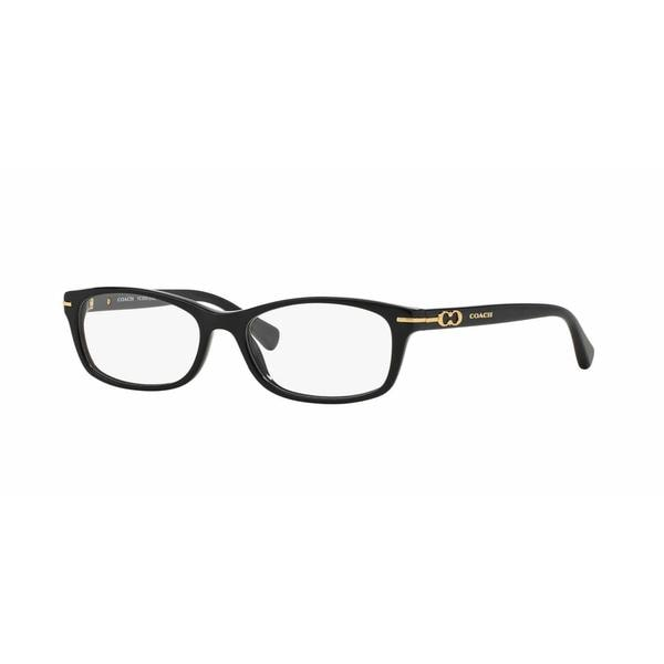 Coach Womens HC6054F ELISE (F) 5002 Black Plastic Rectangle Eyeglasses