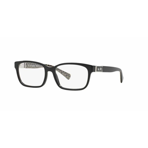 Coach Womens HC6062 DARCY 5261 Black Plastic Square Eyeglasses