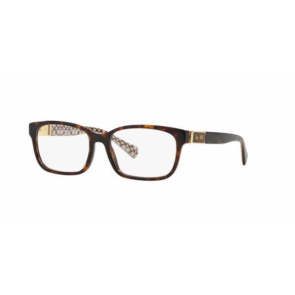 Coach Womens HC6062 DARCY 5262 Havana Plastic Square Eyeglasses