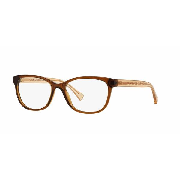 Coach Womens HC6072 5328 Brown Plastic Square Eyeglasses