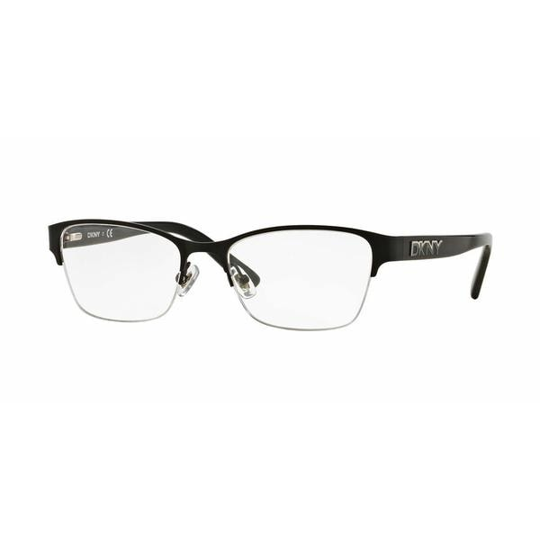 DKNY Womens DY5653 1226 Black Metal Square Eyeglasses