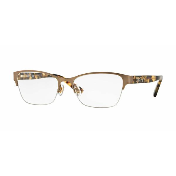 DKNY Womens DY5653 1227 Gold Metal Square Eyeglasses