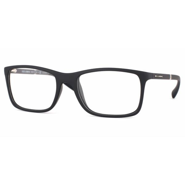 Dolce & Gabbana Mens DG5004 LIFESTYLE 2616 Black Plastic Rectangle Eyeglasses