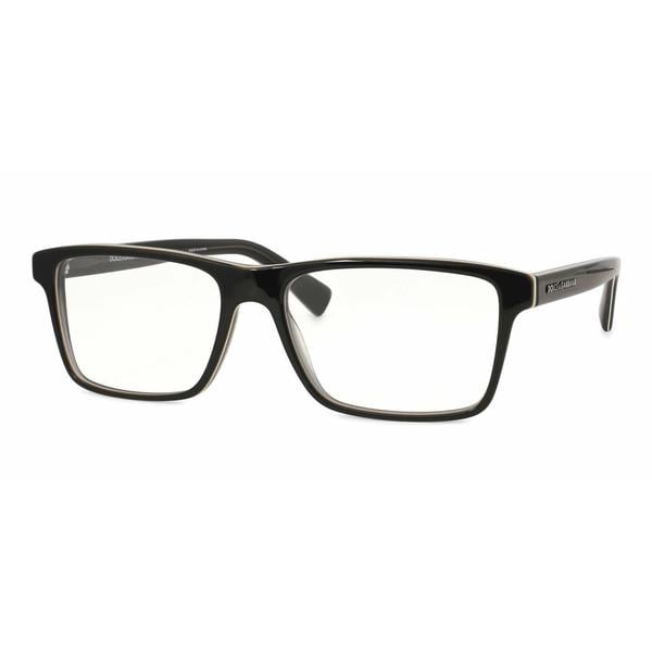 Dolce & Gabbana Mens DG3207 URBAN 1871 Black Plastic Rectangle Eyeglasses