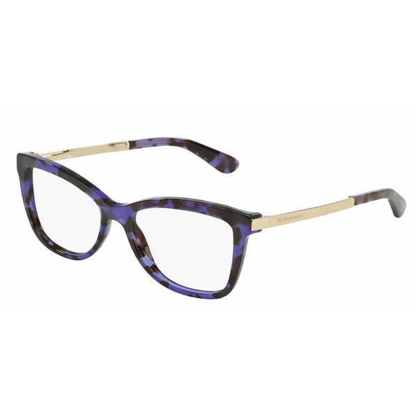 Dolce & Gabbana Womens DG3218 SICILIAN TASTE 2890 Violet Plastic Cat Eye Eyeglasses