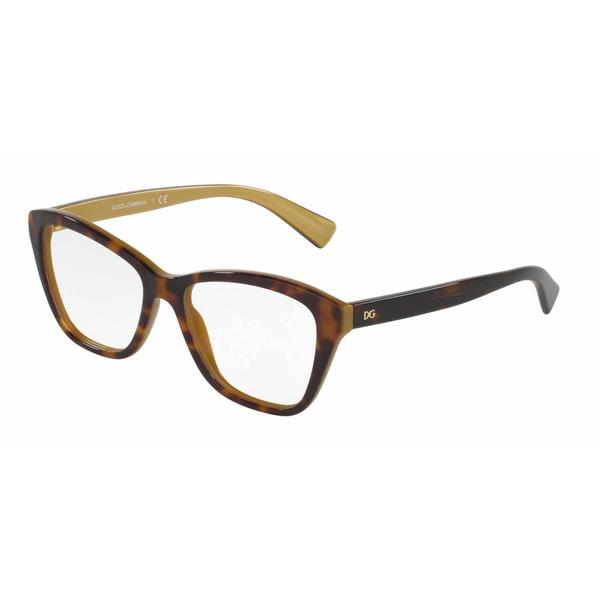 Dolce & Gabbana Womens DG3249 2956 Plastic Square Eyeglasses
