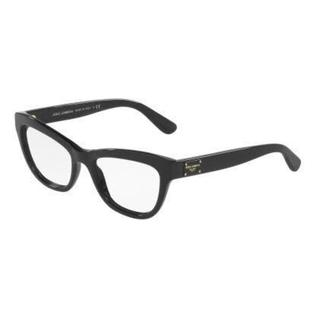 Dolce & Gabbana Womens DG3253 501 Black Plastic Irregular Eyeglasses