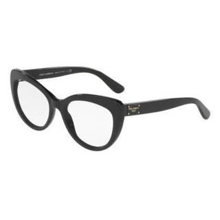 Dolce & Gabbana Womens DG3255 501 Black Plastic Cat Eye Eyeglasses