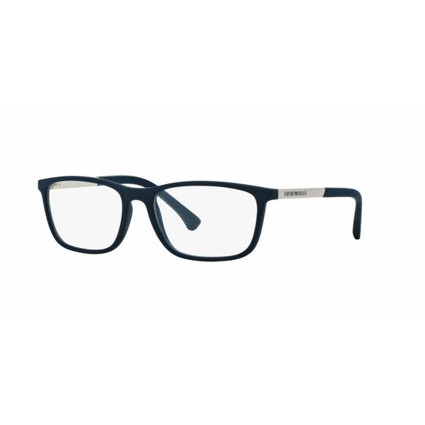 Emporio Armani Mens EA3069 5474 Blue Plastic Rectangle Eyeglasses