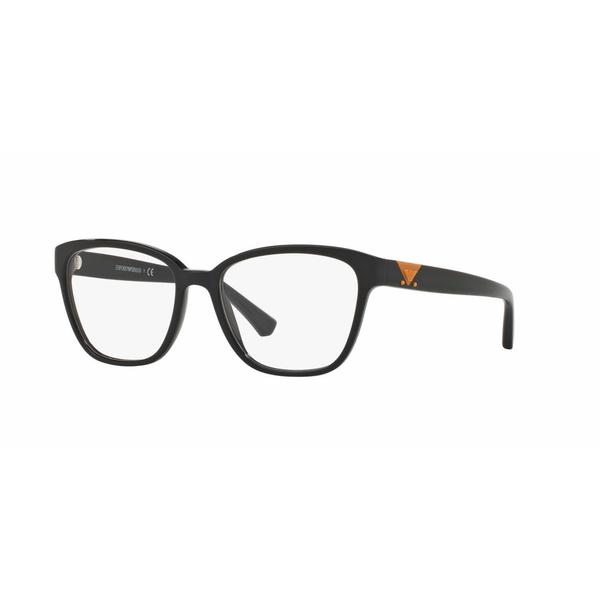 Emporio Armani Womens EA3094 5017 Black Plastic Square Eyeglasses