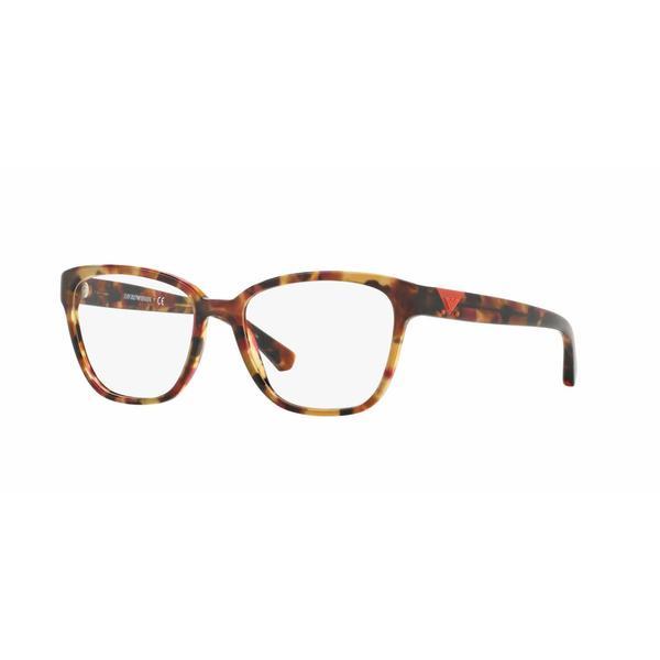 Emporio Armani Womens EA3094F 5541 Pink Plastic Square Eyeglasses