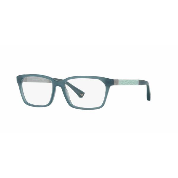 Emporio Armani Womens EA3095F 5539 Grey Plastic Rectangle Eyeglasses