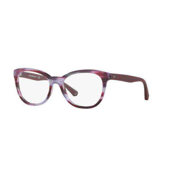 Emporio Armani Womens EA3105 5389 Violet Plastic Cat Eye Eyeglasses