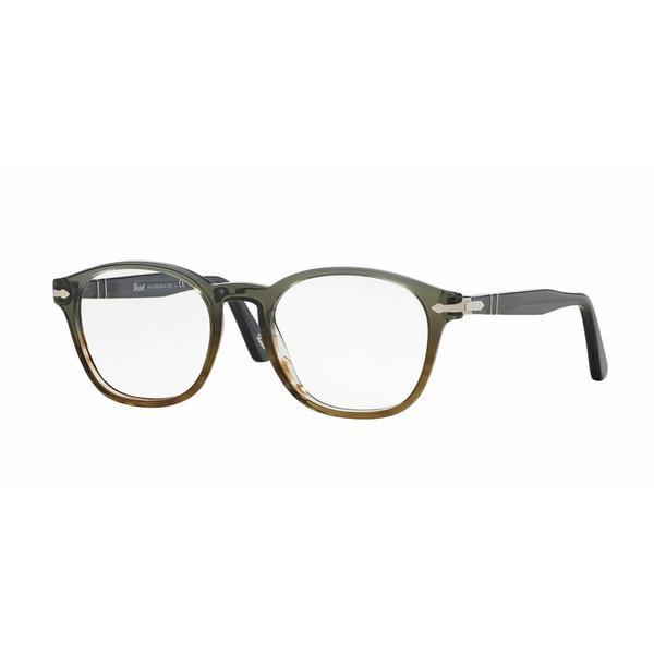 Persol Mens PO3122V 1012 Grey Plastic Phantos Eyeglasses