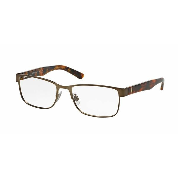 Polo Mens PH1157 9301 Brown Metal Rectangle Eyeglasses