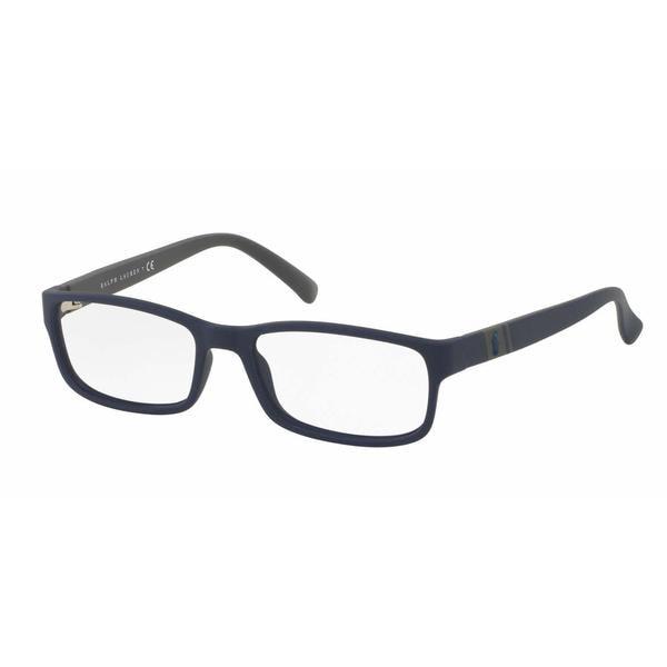 Polo Mens PH2154 5590 Blue Plastic Rectangle Eyeglasses