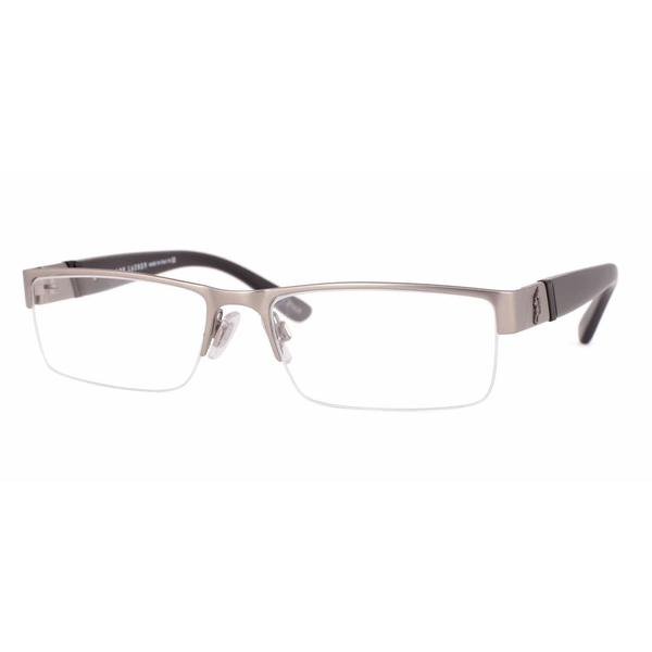 Polo Mens PH1117 9157 Gunmetal Metal Rectangle Eyeglasses