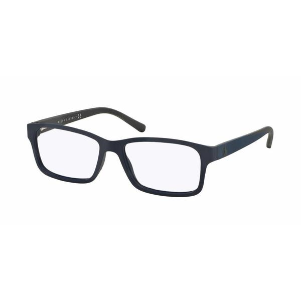 Polo Mens PH2133 5528 Blue Plastic Rectangle Eyeglasses