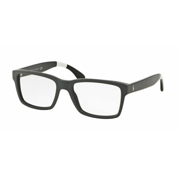 Polo Mens PH2146 5571 Grey Plastic Rectangle Eyeglasses
