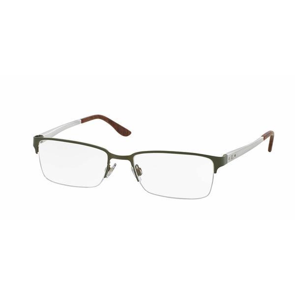 Ralph Lauren Mens RL5089 9283 Green Metal Rectangle Eyeglasses